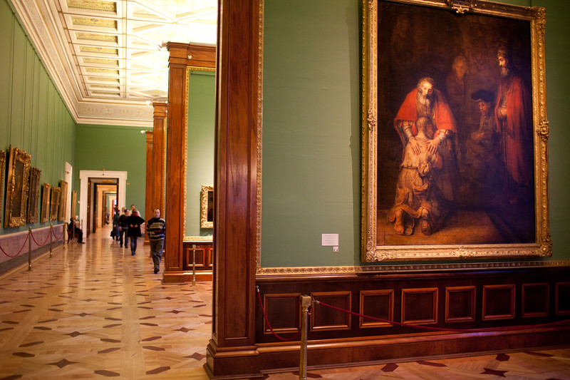 The State Hermitage Museum in the Winter Palace, Saint Petersbug, Russia.