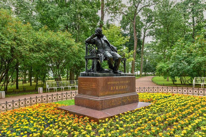 Alexander Pushkin Monument - Tsarskyoe Selo, Russia