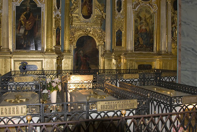 Russian Emperor Crypts (including Peter the Great), Peter and Paul Cathedral, St Petersburg
