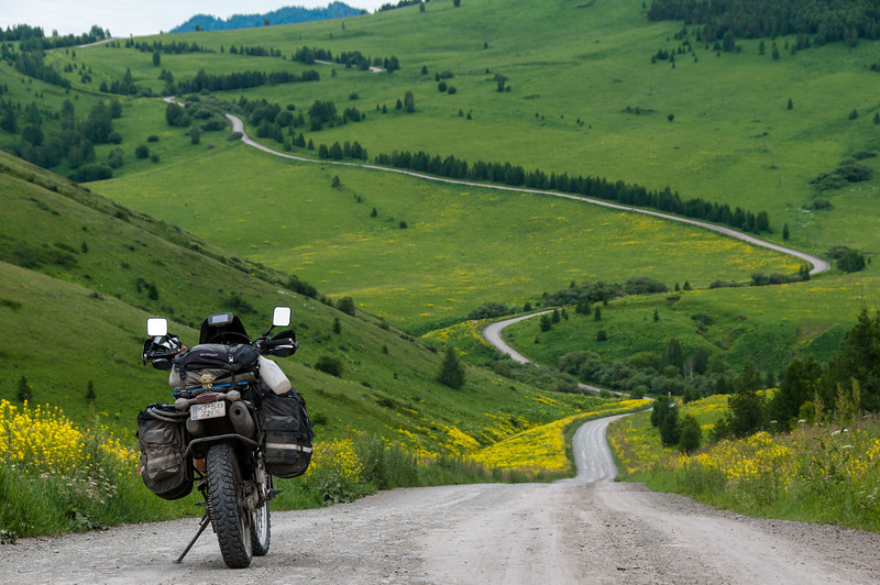 Approaching Sentelek, Altai Republic, Russia