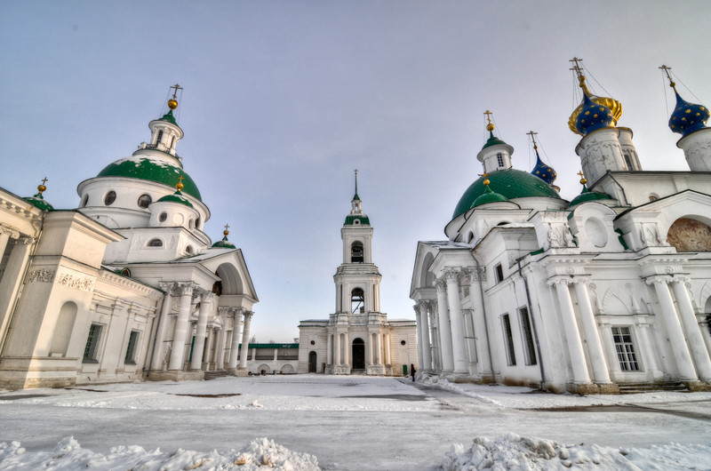Spaso-Yakovlevsky Monastery on the outskirts of Rostov, Russia, along the Golden Ring. Built in the neoclassical style.