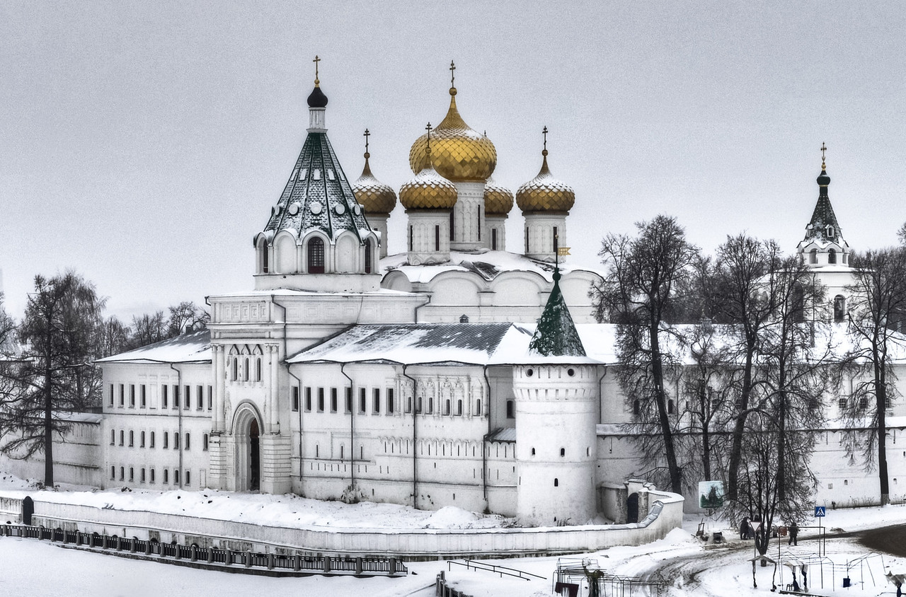 Ipatiev (Hypatian) Monastery of Kostroma along the Golden Ring of Russia in winter.