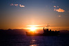 Sunset over Lake Baikal. Siberia.