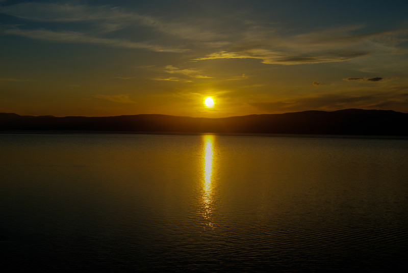 Sunset on Lake Baikal from Olkhon Island