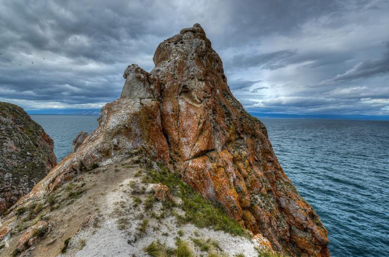 Landscape of Cape Khoboy, Olkhon Island, Baikal, Siberia, Russia