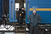 The train I was on from Itkutsk to Moscow (photobombed by one of our lovely carriage attendants).