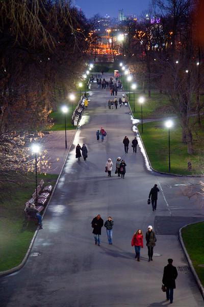 Alexander Gardens, surrounding the Kremlin, Moscow.
