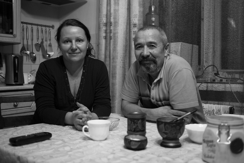 Olga and Sergey, my friendly hosts who allowed me to stay with them in their home in Irkutsk, Eastern Siberia.