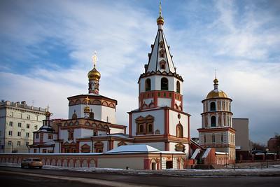 Cathedral in Irkutsk, Siberia.