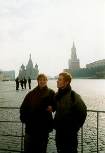 Stephane & me, Red Square -- Moscow, Russia