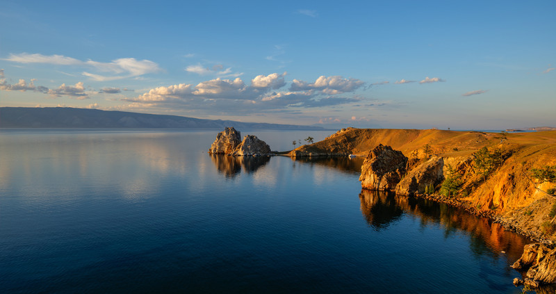 Shaman Rock at Sunset, Island of Olkhon, Lake Baikal, Russia