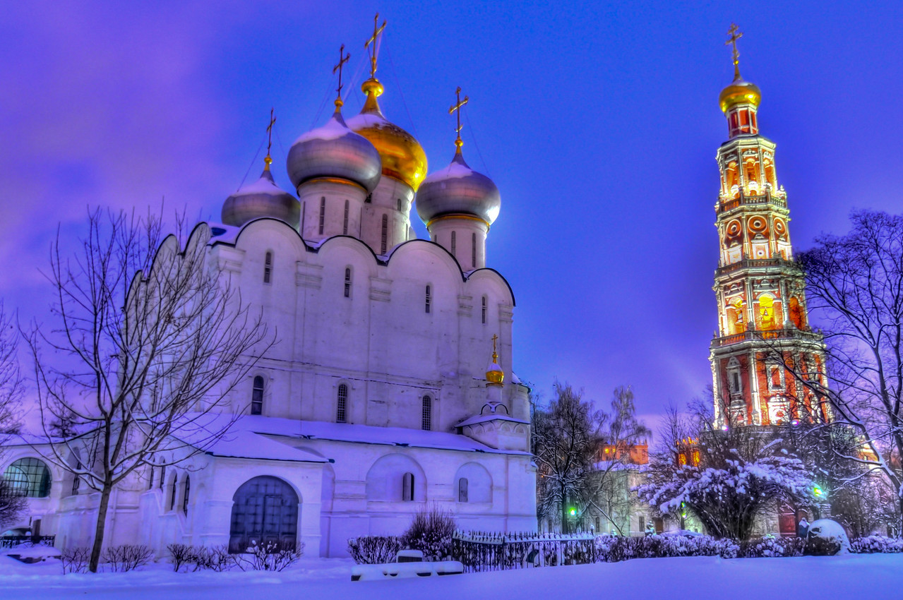 Novodevichy Convent. A cloister of Moscow, sometimes translated as New Maidens' Monastery. UNESCO Site.