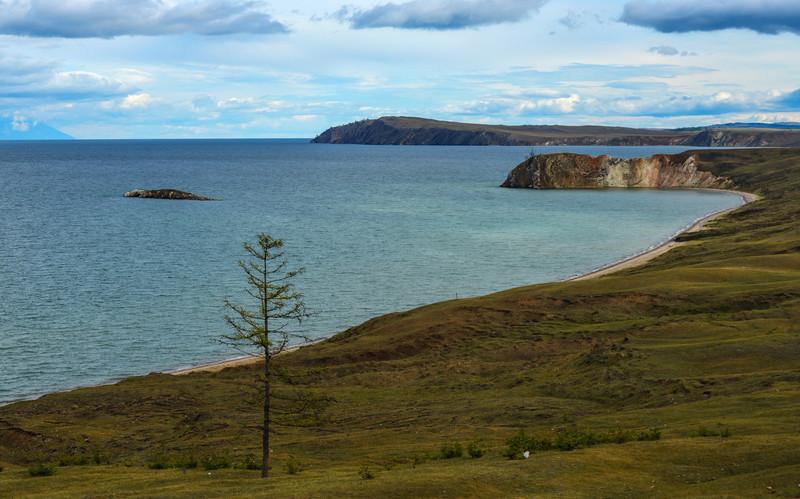 Landscape of Lake Baikal from Olkhon Island, Baikal, Siberia, Russia