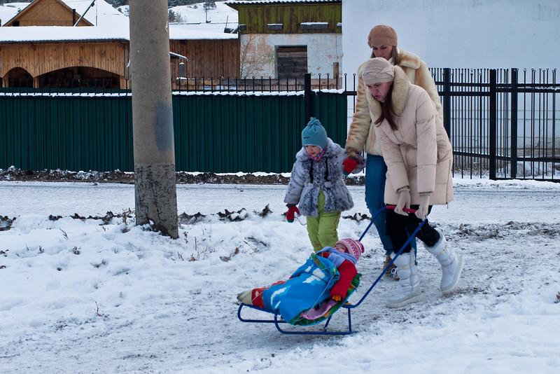 Russian winter prams.