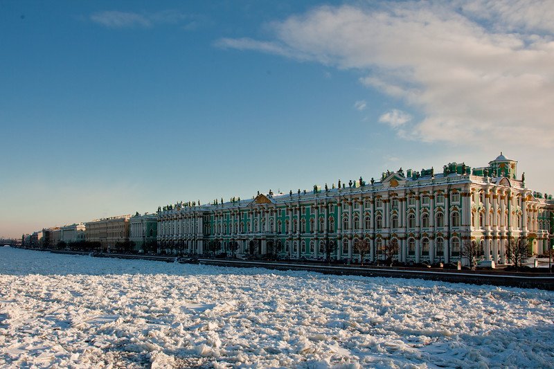 The Winter Palace in Saint Petersburg is one of the buildings now used to host the State Hermitage Museum.