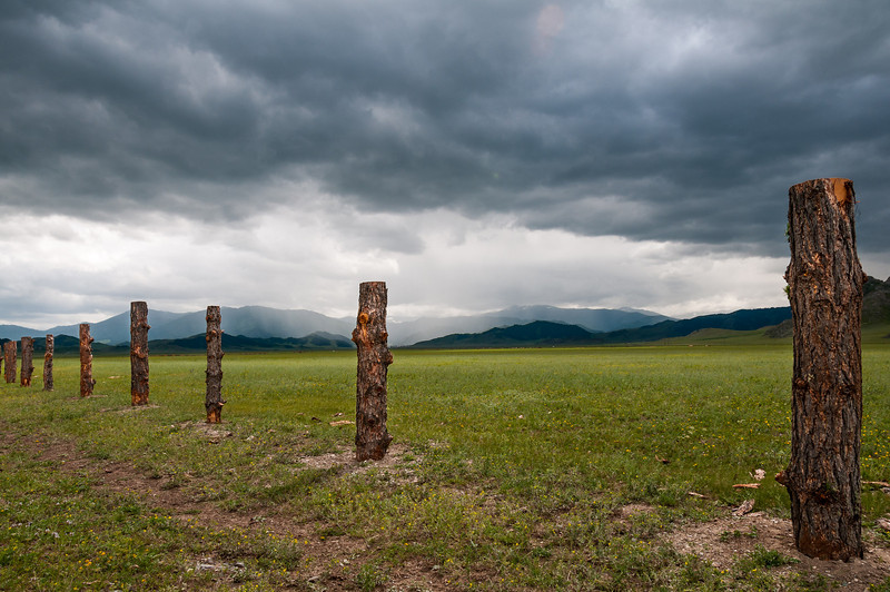 More storms heading towards the M52 in the western Altai. Altai Republic - Russia