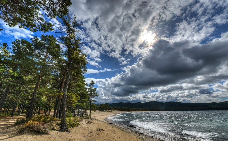 Shore of Lake Baikal