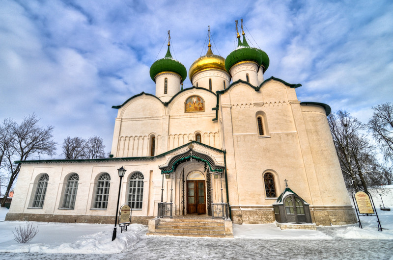 Monastery of Saint Euthymius which was founded in the 14th century. Located along the Golden RIng Route outside Moscow.
