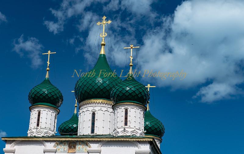 Onion Domes of the Church of Elijah the Prophet - Yaroslavl, Russia