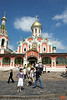 Kazan Cathedral. This is outside the State History Museum along Red Square. The current building is a reconstruction of the original church, which was destroyed at the direction of Joseph Stalin in 1936. The original was built in 1636.<br /> IMG_5849