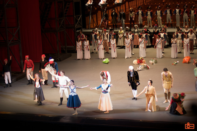 "The ""Flames of Paris"" (Bolshoi). We attended a performance of the Flames of Paris (set during the French Revolution). It was spectacular. The Bolshoi premier of this ballet was the day before we attended.<br /> IMG_5837"