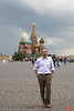 Richard in Red Square with St Basil's in the background.<br /> IMG_5803