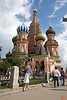 Rosa at St Basil's Cathedral. The cathedral was built between 1555-61 on orders from Ivan the Terrible.<br /> IMG_5872