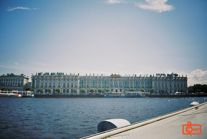The Hermitage. This is the front of the Winter Palace (1732), also known as the Hermitage. It is now one of the largest art museums in the world (3 million pieces in the collection - not all on display). The interiors were beyond description - beautiful marbles, with gold inlays, amazing workmanship. Tzar Nicolas II (who was overthrown by the Soviets in 1917) was the third richest man who ever lived in the history of the world (according to Forbes magazine).<br /> F1010009