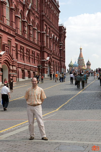 Looking into Red Square. The State History Museum is on the left, St Basil's in the background.<br /> IMG_5845
