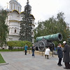 The Czar Cannon cast in 1586 and weighs 40 tons.<br /> It is displayed beside the Bell Tower of Ivan the Great inside the Kremlin. <br /> September 21, 2011