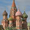 St. Basil's Cathedral catches rare sunlight late on September 22, 2011.