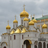 The Cathedral of the Annunciation from 15th century, where the royal family worshiped when the Kremlin was the seat of the czars.<br /> September 21, 2011