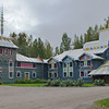 """""""Revived"""" traditional hotel in the village of Mandrogi.<br /> Reconstructed on the bank of Svir River, 170 miles NE of St. Petersburg.<br /> Saturday, September 17, 2011"""