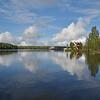 Svir River connects Lake Ladoga to Lake Onega.<br /> Mandrogi Village.<br /> September 17, 2011