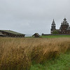 Harsh terrain of northern Russia and outdoor museum of wooden architecture <br /> on Kizhi Island.<br /> September 18, 2011