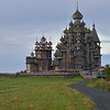Cathedral of Transfiguration and the Bell Tower on Kizhi Island in Lake Onega.<br /> Constructed without use of metal nails, of aspen wood, significant reconstruction is underway directed by UNESCO.<br /> September 18, 2011