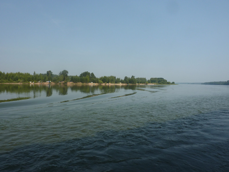 Day 6. The Volga is already a large river here.