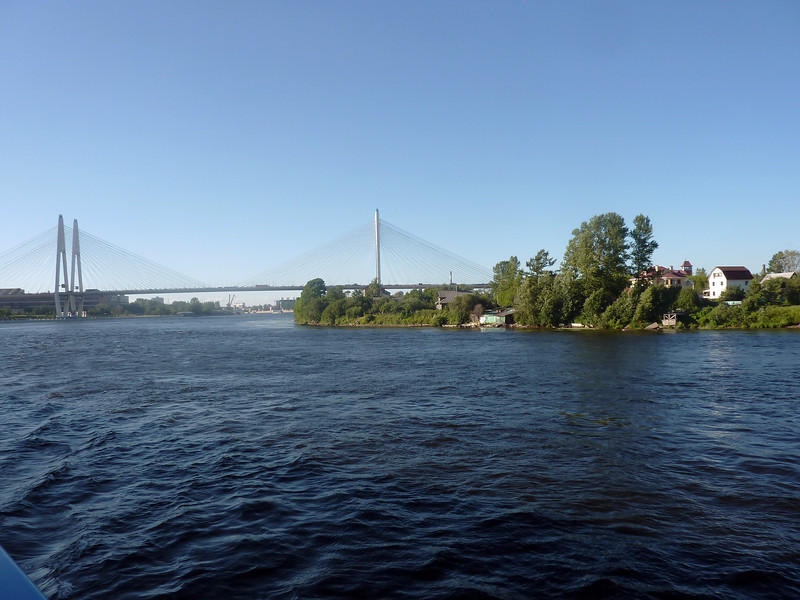 Day 3 Leaving St Petersburg.  We are going on the river Neva, NE toward huge Lake Ladoga, the largest lake in Europe.