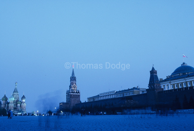 Red Square: St. Basil's Cathedral, the Kremlin. Click on photo for clear, enlarged view.