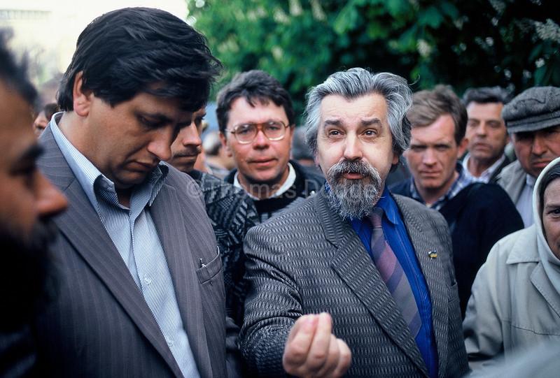 Political discussion, Kiev Town Square.