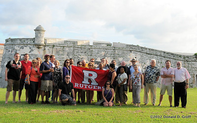 The whole crew gathers outside El Morro, the fortress at the mouth of Havana harbor.  It is ranked No. 12 among 90 Havana attractions at TripAdvisor.com.