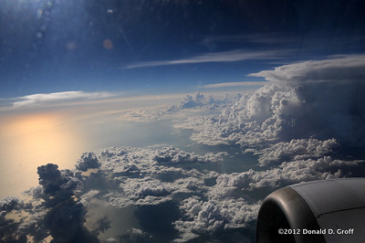 over the Gulf of Mexico, just south of Florida, headed for Havana.