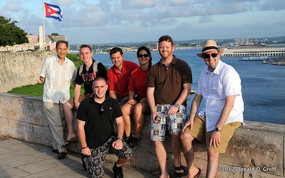 The group's law school contingent, at El Morro.