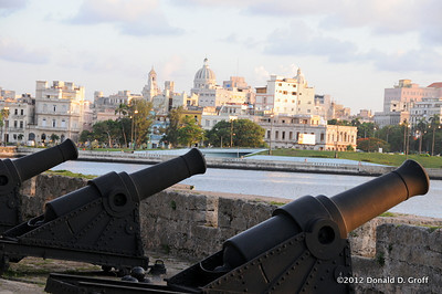 Cannon still line the fortress, with Old Havana in the distance.
