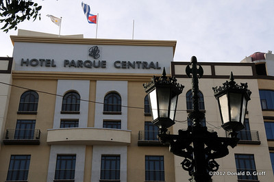 The facade of our hotel in Old Havana. The Hotel Parque Central is a full-service international hotel.