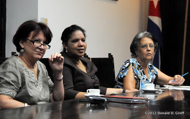 Dr. Cristina Diaz Lopez (left) & colleagues at the University of Havana.