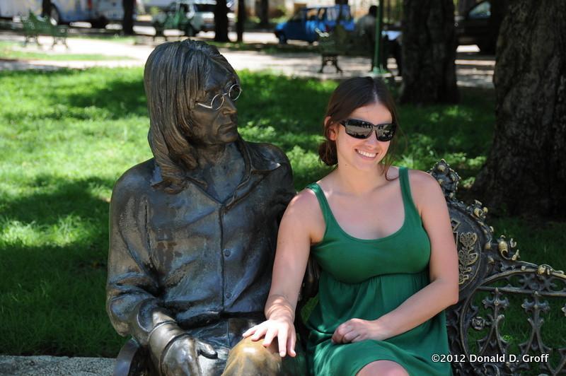 Lennon with Madison.