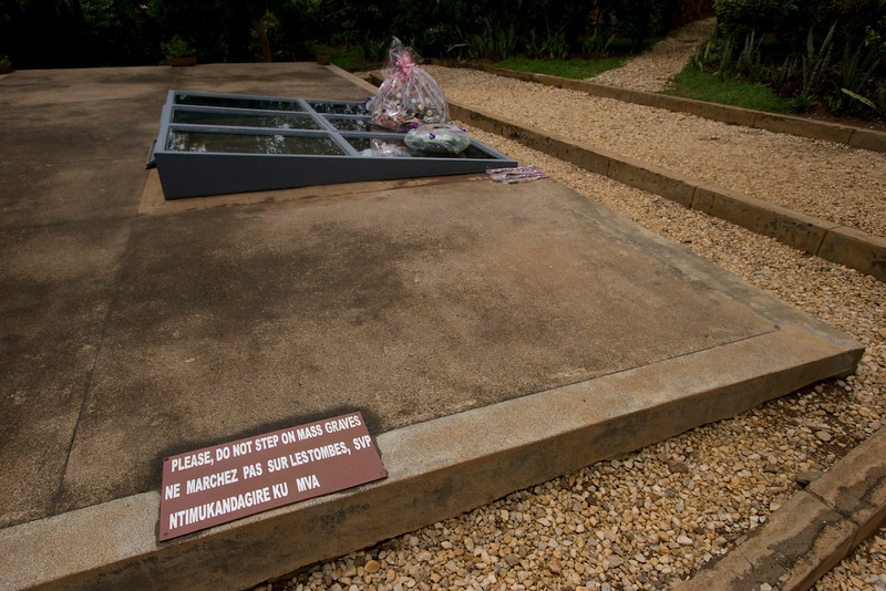 250,000 Rwandans are buried in mass graves at the memorial. Over 800,000 Rwandans were killed