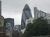 The egg shaped building in London is the Gherkin