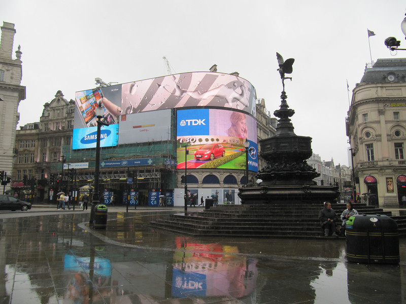 "Piccadilly Circus, London<br /> Piccadilly Circus is a road junction and public space of London's West End in the City of Westminster, built in 1819 to connect Regent Street with the major shopping street of Piccadilly. In this context, a circus, from the Latin word meaning ""circle"", is a round open space at a street junction."